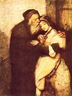 Shylock and Jessica by Maurycy Gottlieb (1876)