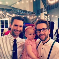 Adam Levine with Will Champlin and his daughter Harper. This pic is full of cuteness!