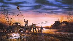 terry redlin   Sharing The World Together: Painting by Terry Redlin