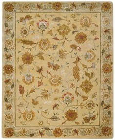 Williamsburg ~ Lotus Lt. Gold Rugs