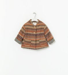 PRINTED COAT WITH BUTTONS - Coats - Baby girl - New collection | ZARA Canada