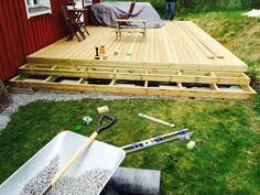 Bygga trappa till altan