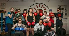 Don't mess with women, especially if they're wearing boxing gloves.