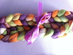 Springtime Merino spinning fiber by Ulljente on Etsy Spring Time, Spinning, All Things, Fiber, Felt, Hand Painted, Wool, Handmade, Stuff To Buy