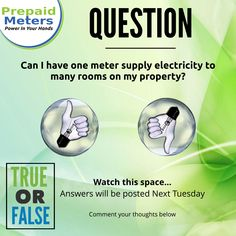 Question 21: Can I have one meter supply electricity to many rooms on my property?