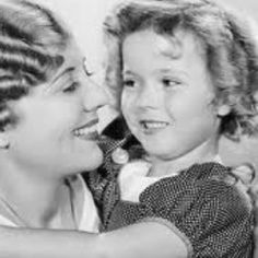 Shirley & her mother in 1933