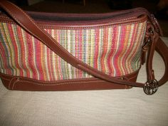 Etienne Aigner Tweed & Brown Faux Leather Purse. Love the colors...wish the leather was not faux!