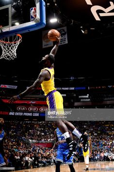 Lance Stephenson  6 of the Los Angeles Lakers shoots the ball against the  Orlando Magic 5280a5dde