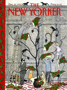 The New Yorker - Dec. 21,1992 - It's A Gorey Christmas Tree