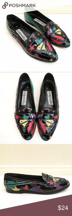 63714ece6b5 VINTAGE Patent Learher Lips Heart Star Loafer Flat By Capezio. So bummed  these don
