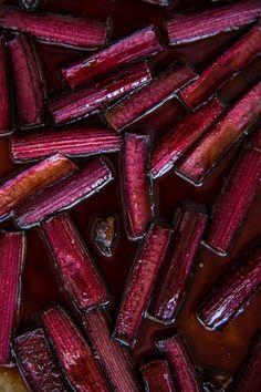 Roasted rhubarb and chia parfait