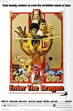 This Bruce Lee Enter The Dragon Movie Poster T Shirt is a faithful re-print of the legendary retro Kung Fu movie. A fitting tribute to the skill and mastery of the late Bruce Lee, this t shirt shows your appreciation of perhaps his finest work. Classic Movie Posters, Movie Poster Art, Classic Movies, Art Posters, Movie Poster Frames, Classic Bob, Film Movie, See Movie, Cinema Tv