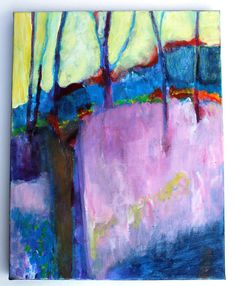Landscape Painting Abstract Contemporary by kerriblackmanfineart