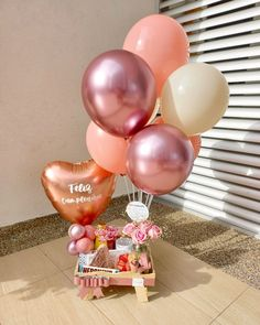 Baby Girl Gift Baskets, Birthday Gift Baskets, Baby Girl Gifts, Birthday Balloon Decorations, Birthday Balloons, Birthday Parties, Birthday Gifts, Best Friend Gifts, Gifts For Friends