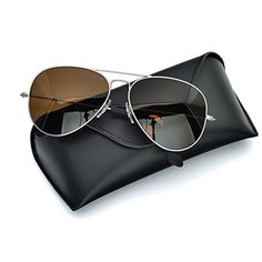 564cd1fb07 BNUS Italy made aviator titanium sunglasses for men women w. corning  natural glass truecolor polarized