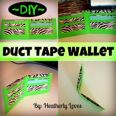 Duct tape projects on pinterest duct tape flowers duct for Super easy duct tape crafts