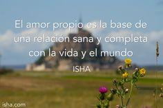 El amor propio es la base de una relación sana y completa con la vida y el mundo. Isha Judd. Citas