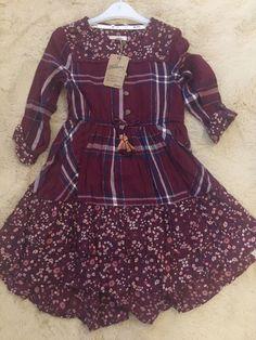 Burgundy Dress, Winter Dresses, Dark Red, Party Dresses, Tartan, Girl Outfits, Pretty, Floral, Girls