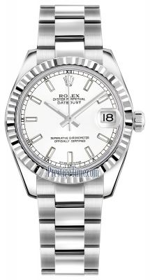 Rolex Datejust 31mm Stainless Steel 178274 White Index Oyster