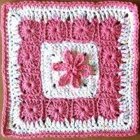 Thirteen Grannies in a Square Dishcloth | Crochet Free Pattern