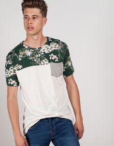 camiseta flores con bolsillo