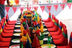 Uno themed!  Love the colors - great for boys and girls - any aged birthday party or other fun celebration!!