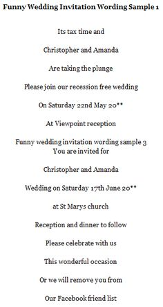 Wedding invitation wordings samples wedding love pinterest funny wedding invitation wording samples stopboris
