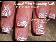 These nails are PERFECT for you if you are eloping in Vegas! Robin Moses Wedding Diva Nail Art!