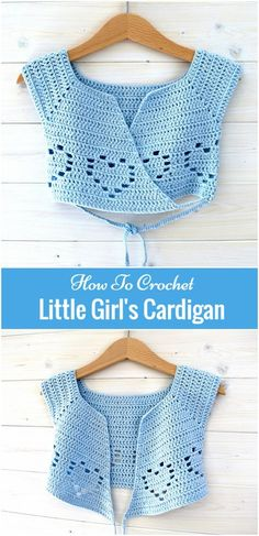 How To Crochet Little Girl's Cardigan Lovely Crochet Cardigan Anyone Can Make Two-Rectangle Cardigan Crochet Apparel Free, Easy Crochet Sweater Pattern – A Cardigan Made from 2 Hexagons! The Easiest Crochet Cardigan + 8 Crochet Kits For Beginners Gilet Crochet, Crochet Baby Cardigan, Black Crochet Dress, Crochet Baby Clothes, Baby Blanket Crochet, Cardigan Pattern, Crochet Toddler Dress, Crochet Dress Girl, Crochet Shirt