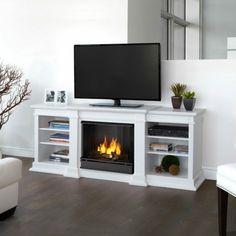 muebles de TV con chimenea