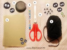 DIY Fuzzy & Fluffy Soot Sprites Tutorial from spirited away.
