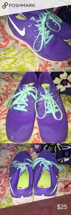 Nike Free Runs 5.0 These are Nike Free Runs 5.0. Women's size 8. I've worn these only a couple times, and they're super comfortable. Giving away because they no longer fit. Little smudge on left shoe but not too bad. Nike Shoes Athletic Shoes