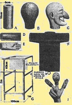 Make your own Punch & Judy puppets
