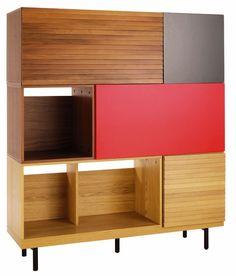 Multiconfigurable.La librería Bocksey ofrece diferentes combinaciones. En 135x45, al. 154 cm, cuesta 1.255 €, de Habitat.