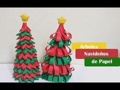 Árboles navideños hechos de papel |DIY| Manualidades Navideñas