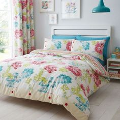 CATHERINE LANSFIELD NEW STAB STITCH FLORAL DUVET COVER SET SINGLE DOUBLE KING