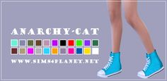 Anarchy-Cat: Madlen Neroni Sneakers recolors • Sims 4 Downloads