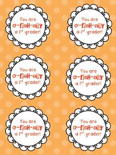 O-fish-ally Back to School tag...adhere to goldfish or Swedish fish and you're set for a Back to School Treat.