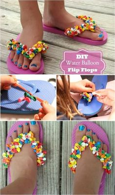 DIY: Water Balloon Flip Flops #diy #thriftychic #diyflipflops