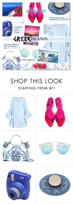 """""""PACK AND GO"""" by larissa-takahassi ❤ liked on Polyvore featuring Giambattista Valli, Dolce&Gabbana, Christian Dior, Fujifilm and Eugenia Kim"""