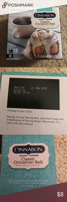 Cinnabon K Cups Brand new in box! They expire in June 2018! I have so many and I don't really need these!! Keurig Accessories