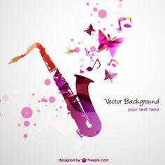 Saxofone do vetor livre