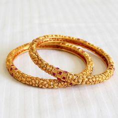 Designer Golden bangles (2.8)