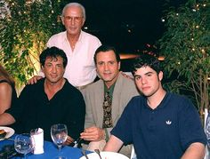 Sylvester Stallone, brother Frank, father Frank and son Sage at Stallone's Miami home in 1996