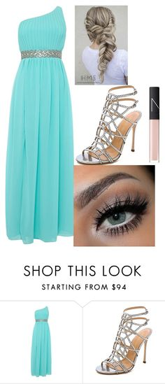 """""""Aphrodite"""" by clarabelle124 ❤ liked on Polyvore featuring TFNC, Sergio Rossi and NARS Cosmetics"""