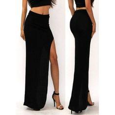 New Fashion Charming Sexy Women Lady Long Skirts Open Side Split Skirt Long Maxi Skirt Black Long Skirt Outfits, Long Maxi Skirts, Crop Top Outfits, Women's Skirts, Women's Shoes, Maxi Skirt Black, Long Skirts For Women, Spandex Dress, Sammy Dress