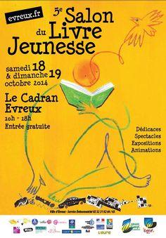 Affiche 5e Salon du Livre Jeunesse d'Evreux