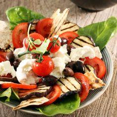 Salata Caprese cu vinete
