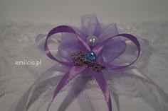 Podwiązka Dodatki Ślubne Podwiązki niebieskie Podwiazka fiolet z błękitną cyrkonią prezentuje się bardzo ładnie i szykownie. Weeding Dekoracje Ślub Band, Accessories, Sash, Bands, Jewelry Accessories