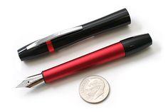 Ohto Rook Fountain Pen - Fine Nib - Black Red Body - OHTO FF10RO-BR